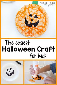 Sometimes you just need a quick win with a Halloween craft - this one won't disappoint! It's easy enough for toddlers, but preschool kids and even kindergarten children will love it too. It can make a great Halloween decoration, too! Halloween College, Halloween Art, Halloween Decorations, Halloween Recipe, Women Halloween, Halloween Nails, Halloween Makeup, Costume Halloween, Halloween Office