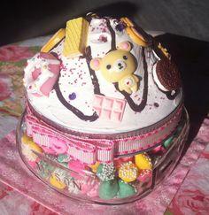 Cupcake Korilakkuma Decoden Mini Sweets Jar by TheGiftMonkey, $12.50