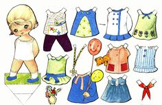 paper dolls   Kids Under 7: New Paper Dolls with Clothes