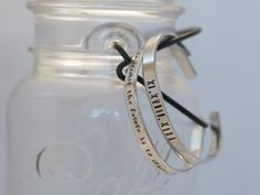 Personalized Bangle coordinates jewelry by DoodlebugImpressions