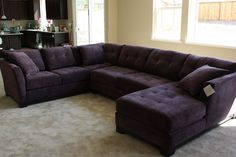 My couch minus one section and in deep gray.... Love this, so comfy and big!!!!