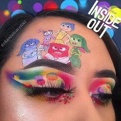 eyes eyeshadow makeup inspiration inside out disney Makeup Eye Looks, Eye Makeup Art, Crazy Makeup, Pretty Makeup, Eyeshadow Makeup, Eyeliner, Fairy Makeup, Mermaid Makeup, Unique Makeup