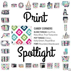 Print Spotlight for Spring/Summer 2017 Thirty-One - Candy Corners #newcatalog www.mythirtyone.com/lizaknopp
