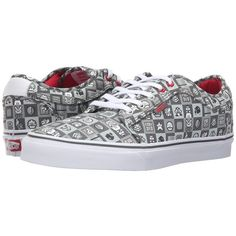 Vans Chukka Low ((Nintendo Check) Gray/White) Men's Skate Shoes ($65) ❤ liked on Polyvore featuring men's fashion, men's shoes, men's sneakers, mens gray dress shoes, mens skate shoes, mens low top shoes, mens grey sneakers and vans chukka low mens shoes