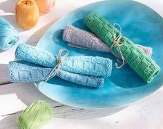 Geschenke stricken-Tanja Steinbach_Aus Baumwolle gestrickte Spültücher sind derzeit sehr beliebte Mitbringsel geschenke stricken 14 supertolle Geschenke stricken – mit kostenlosen Anleitungen