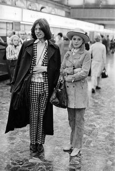Marianne Faithfull and Mick Jagger, London Airport 1969. Photo by William Lovelace