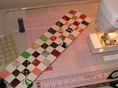 Postage stamp quilt tutorial