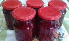 Červená řepa s křenem | NejRecept.cz Preserves, Salsa, Grilling, Cooking Recipes, Jar, Canning, Food, Tiramisu, Scrappy Quilts