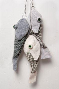 Wristlets - Fischtasche - ein Designerstück von Nina-Fuehrer bei DaWanda