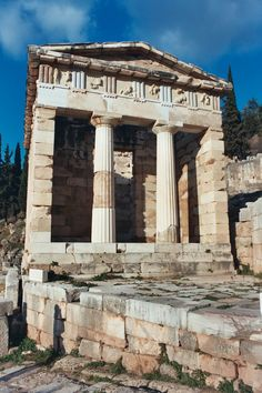 Reconstruction of the Treasury of Athens, Delphi
