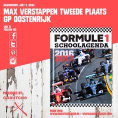 Max Verstappen knap tweede bij GP Oostenrijk, Max startte op de achtste plek maar reed na veertien ronden al op de derde plaats op de Red Bull Ring