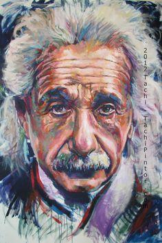 Albert Einstein Relativity Philosopher Physicist Fine Art Print Portrait