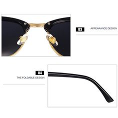 ac18e4fa3983c Pro ACME Classic Semi Rimless Polarized Clubmaster Sunglasses With Metal  Rivets