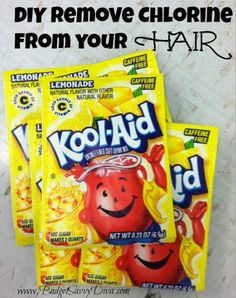 Use Kool-Aid to Remove Chlorine From Your Hair