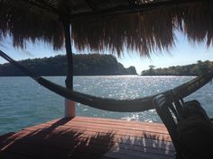 """Hotel La Joya Del Golfo, Hammock & a book, via @Triptease """"Unlimited pina coladas, endless lobsters and a hammock with the best views in Central America. Bliss in El Salvador"""""""