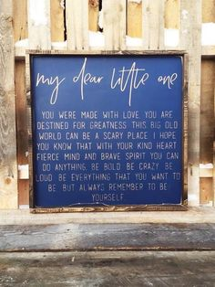 July 10th, Our Inspirational Quote of the day is a beautiful letter between parent and child. A great idea for any parent. Be the Good, Be Yourself. (original post - Fixer Upper | Nursery Decor | Nursery Ideas | Infertility | IVF | Nursery Design | Kids Room | Farmhouse Sign | Farmhouse Decor | Pallet Sign | Reclaimed Wood | DIY | Pallet Art | Rustic Sign | Rustic Home Decor | Quote Sign | Bedroom Decor | Shabby Chic | Pallet Crafts | Home Decor | Wood Sign | Farmhouse | Farmhouse Sign…