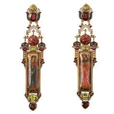 Diego Percossi Papi Hand Painted Earrings