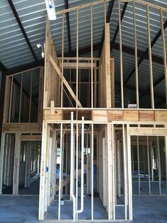 Steel Building Styles- Metal Carports and Barns and Garages and RV Covers and Pole Barn House Plans. Metal Shop Building, Steel Building Homes, Building A House, Building Ideas, Morton Building, Metal Barn Homes, Pole Barn Homes, Pole Barns, Barndominium Floor Plans