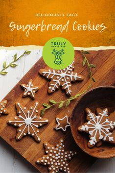 Chewy Gingerbread Cookies, Christmas Sugar Cookies, Holiday Cookies, Holiday Treats, Christmas Treats, Holiday Recipes, Baking Recipes, Cookie Recipes, Dessert Recipes
