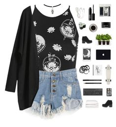 """""""celestial."""" by serendipityagain ❤ liked on Polyvore featuring Motel, Royal & Langnickel, Koh Gen Do, H&M, Boskke, NARS Cosmetics, Bunn, Vagabond, Selfridges and outfit"""