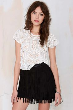 Lovers and Friends Daycation Beaded Crop Top