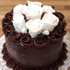 This chocolate ganache cake is the ultimate in chocolate luxury and decadence, and it couldn't be easier to make. My favorite cake! Chocolate Ganache Cake, Decadent Chocolate, Chocolate Grooms Cake, Chocolate Roses, Dark Chocolate Cakes, White Chocolate, Gorgeous Cakes, Amazing Cakes, Köstliche Desserts