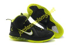 New Nike Lebron 9 Shoes For Sale Black Lime Green 469764 002 a84205d30