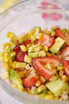 Strawberry, Avocado, & Corn Salsa