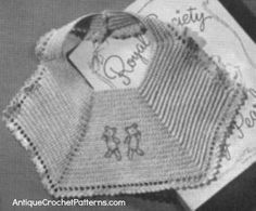 Crochet Baby Bib Pattern - Embroidery Baby Bib - This cute baby bib pattern is even cuter if you embroider the two teddy bears on the bib when you are finished crocheting it.