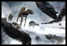 """The Battle of Hoth"" by Benjamin Carré"