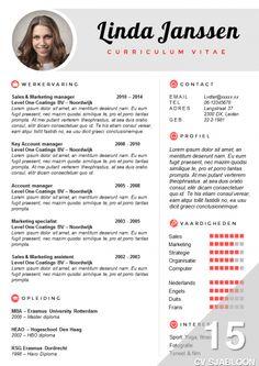 CV sjabloon met bijpassend sollicitatiebrief sjabloon. Eenvoudig te bewerken in Word. Nu te bestellen en direct te downloaden: http://deleydsche.nl/product/cv-sjabloon-15