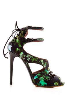 Tabitha Simmons Bailey Floral Printed Satin Sandal