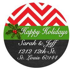 Christmas Return Address Labels Envelope by MoonLitPrintables