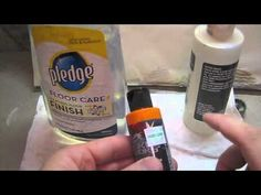 ▶ Thinning Paint for an airbrush - YouTube. Pledge/Johnson Future is an acrylic gloss varnish coating for floors. But you want long lasting and non-yellowing artists' quality medium for permanence. Thinning acrylic paint with water spreads the polymer molecules too far apart to maintain binder integrity. myb