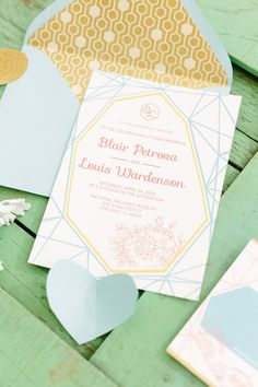 Pastel and mint wedding invitation | City Love Photography | see more on: http://burnettsboards.com/2014/04/pastel-mint-gold-wedding-ideas/