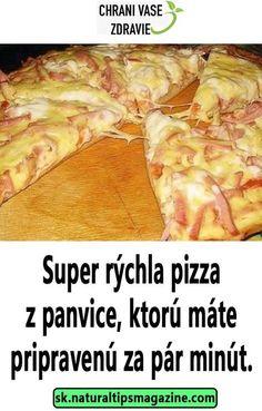 Super rýchla pizza z panvice, ktorú máte pripravenú za pár minút. Breakfast Recipes, Food And Drink, Pizza, Keto, Mozzarella, Chicken, Dinner, Cooking, Hampers