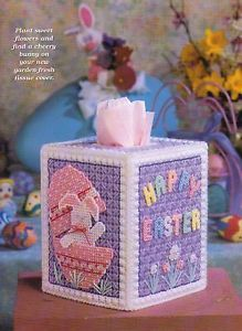 Easter Surprises Bunny Tissue Box Cover Plastic Canvas Pattern ...