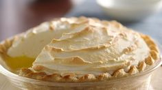 Luscious Lemon Meringue Pie. Taste a classic recipe!  This pie is bursting with fresh lemon taste and a sweet, creamy real meringue topping.