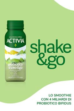 Nuovo Activia Probiotico Shake&Go 3d Paper, Gut Health, Coconut Water, Stay Fit, Summer Recipes, Yogurt, Appetizers, Packaging, Drinks