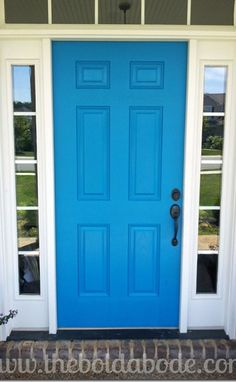 Blue Mosque by Sherwin Williams... a bright pop to make Spring Smile! I will be one of those who paint their door every season lol