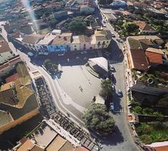#Pula magnifica e inedita immagine #Vistaerea di piazza del Popolo #drone #phantom2 #Sardegna #VisitPula fb.me/6nvzj9dSi   Foto di @fabio_jenga Fonte: http://instagram.com/p/x4AgFMPfH6/