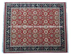 Latest Red Hand Knotted 100% Hand Spun Wool High Traffic Area Floor Carpet Rug 8x10' India Wholesale Ideal for Hotel Home