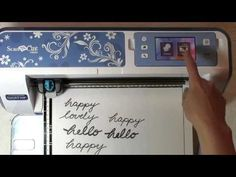 """Using the Brother ScanNCut with Your Own Handwriting  -  shows how to """"unify"""" letters to cut out into one word."""