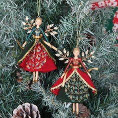 Traditional Fairy Angel Christmas Tree Decorations