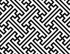 Sayagata is a design pattern of interlocking swastikas, manji 万字 (卍).
