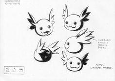 Katsuyoshi Nakatsuru's (中鶴 勝祥) character designs from Digimon Adventure (I believe) & the 1st Digimon 02 movie.