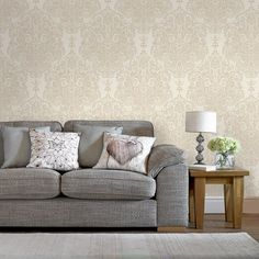 Melody Neutral Wallpaper by Graham and Brown