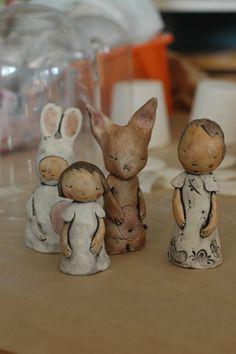 Carol Epp of Musing About Mud....with a new line of precious little figurines....