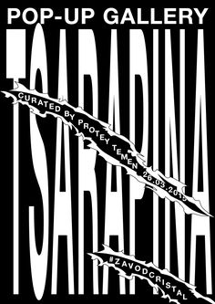 Ira Ivanova - Poster for Pop-up gallery Tsarapina photo Mitya. Type Posters, Poster Prints, Graphic Design Typography, Logo Design, Typographic Poster, Black And White Design, Magazine Design, Pop Up, Type 3