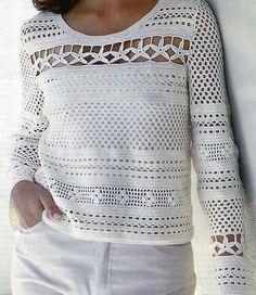 Fabulous Crochet a Little Black Crochet Dress Ideas. Georgeous Crochet a Little Black Crochet Dress Ideas. Moda Crochet, Pull Crochet, Gilet Crochet, Crochet Shirt, Crochet Baby, Crochet Summer, Crochet Tops, Blanket Crochet, Crochet Doilies